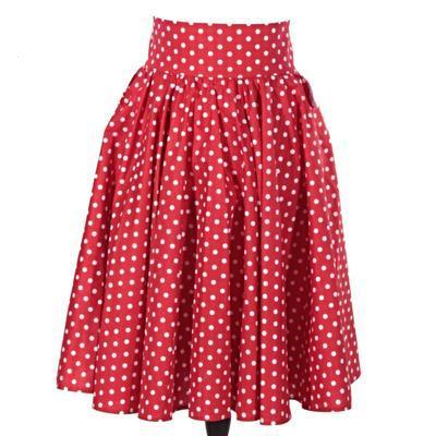 Retro dámská sukně Red červený puntík - 1