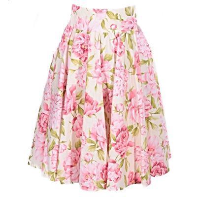 Květovaná retro dámská sukně Pivoňky  - 1