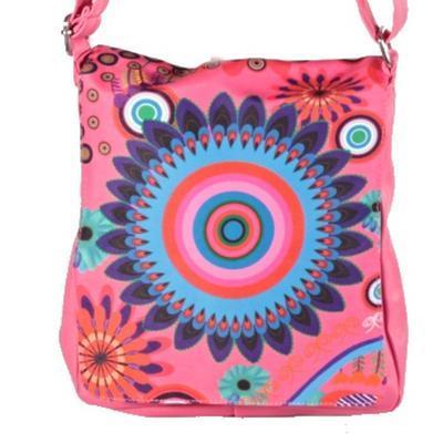 Stylová dámská kabelka Erika růžová - 1