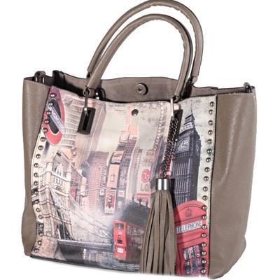 Atraktivní dámská kabelka Rosi šedá - 1