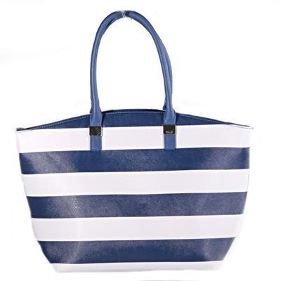 Pruhovaná dámská kabelka Lerry modrá - 1