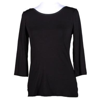 Černé tričko s midi rukávem Mia - 1