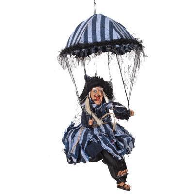 Závěsná čarodějnice na deštníku Alžběta tm. modrá