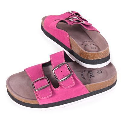 Dámské korkové pantofle Izabela růžové