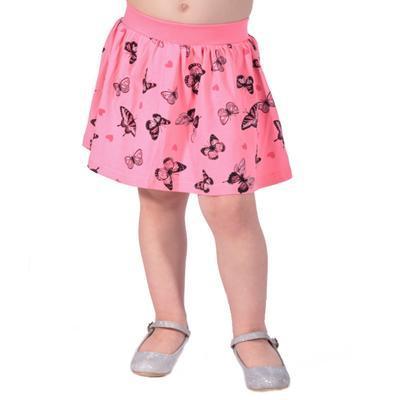 Dětská sukně s motýlama Stela světle růžová - 1