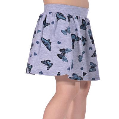 Dětská sukně s motýlama Stela šedá - 1