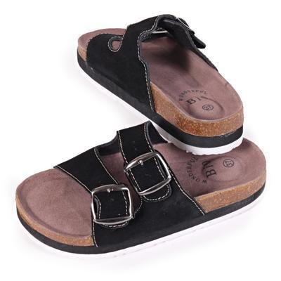 Dámské korkové pantofle Izabela černé