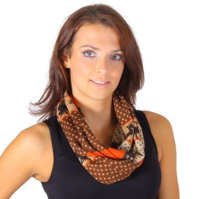 Oranžový šátek Aron s norským motivem B2 - 1