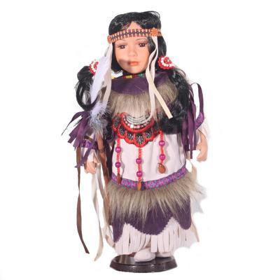 DOLL porcelánová indiánská panenka Winoma 40 cm