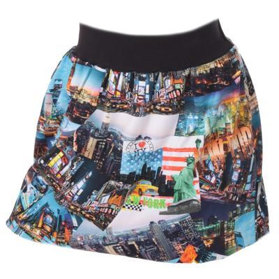 Barevná balounová sukně Edita s potiskem New Yorku - 1