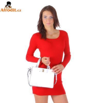 Červený úpletový svetr Rafael - 1
