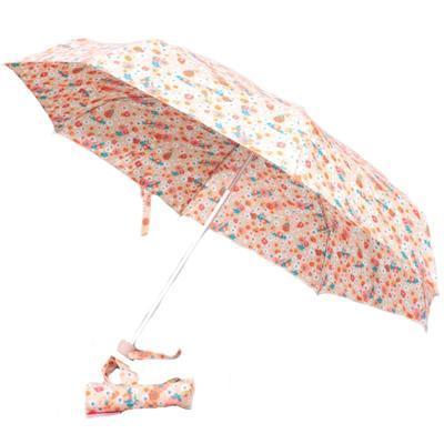 Dámský skládací deštník s potiskem květin Viera
