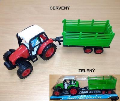 Traktor s vlečkou na seno 33cm Koko