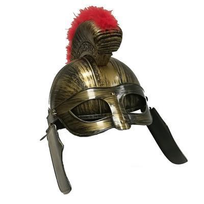 Dětská plastová rytířská helma Mojmír zlatá