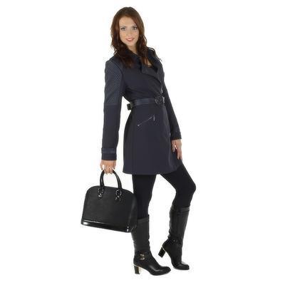 Softshellový modrý kabát Valery - 1
