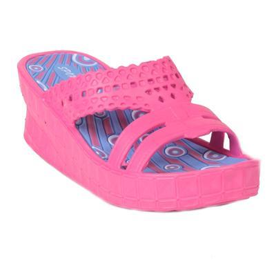 Gumové pantofle na klínku Megie růžové
