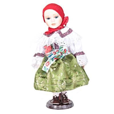 DOLL porcelánová panenka v kroji Ina 30cm