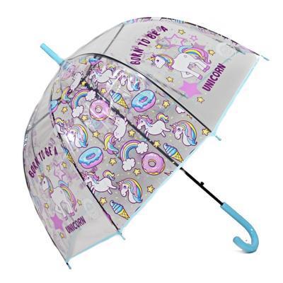 Dětský vystřelovací deštník Unicorn modrý - 1