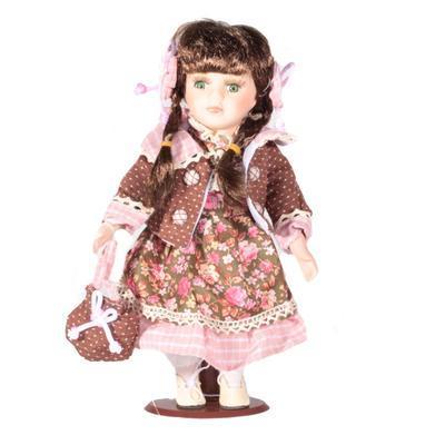 DOLL porcelánová panenka Brigitt 30cm