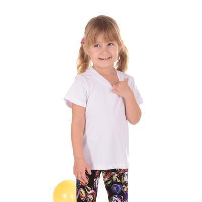 Dětské tričko krátký rukáv Laura bílé od 98-116 - 1