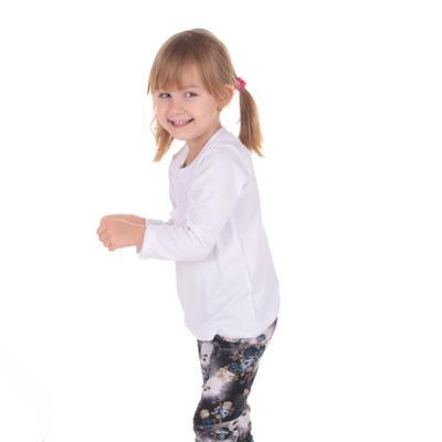 Dětské tričko dlouhý rukáv Marlen bílé od 122-146 - 1