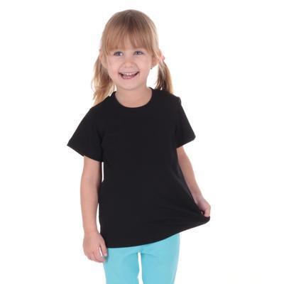 Černé dětské tričko krátký rukáv Laura od 98-116 - 1