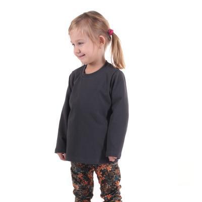 Dětské tričko dlouhý rukáv Marlen šedé od 98-116 - 1