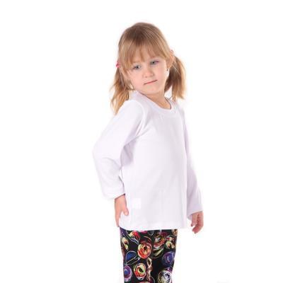 Dětské tričko dlouhý rukáv Marlen bílé od 98-116 - 1