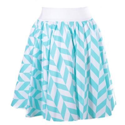 Modrá kolová sukně Katy - 1