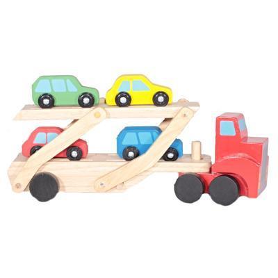 Dětský dřevěný tahač s autíčky Alan