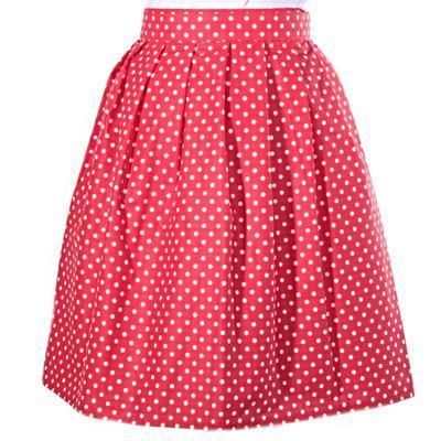 Puntikatá červená zavinovací sukně Merisa - 1