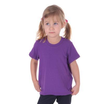 Fialové dětské tričko krátký rukáv Laura od 98-116 - 1