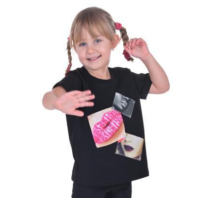 Dívčí tričko s moderní nášivkou Rozalie od 98-116 - 1