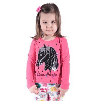 Růžové měnící bavlněné tričko Mick - 1