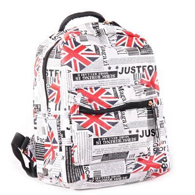 Stylový batoh s potiskem Just černý - 1