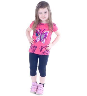 Dívčí  komplet - měnící tričko a 3/4 legíny Ester - 1