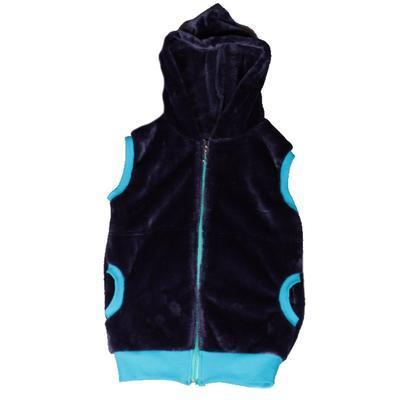 Hřejivá dětská vesta s kapucí Lionela tmavě modrá