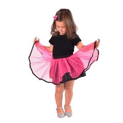 Dívčí tylová tutu sukně Nesy neonově růžová - 1