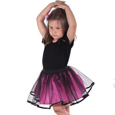 Dívčí tylová tutu sukně Nesy tmavě růžová - 1