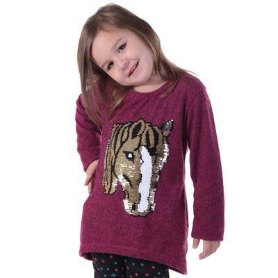 Dívčí svetr s měnícím obrázkem Pedro růžové - 140, 140 - 1