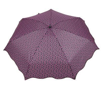Skládací fialový mini deštník Love - 1