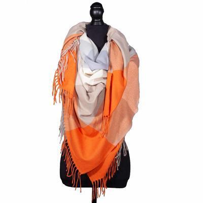 Velká hřejivá šála Vivien oranžová