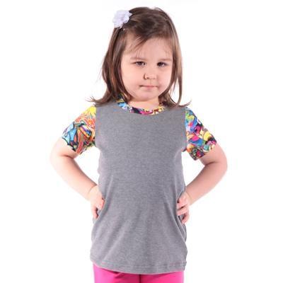 Šedé dětské tričko Sam - 1