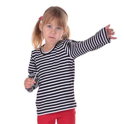 Tričko dlouhý rukáv pruhy Anabela od 98-116 - 1