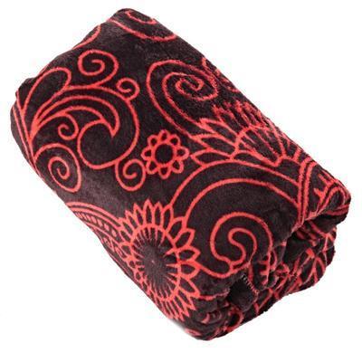 Hřejivá deka Tina červená 150 x 200 - 1