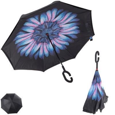 Obrácený deštník Bento modrý