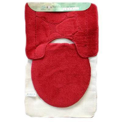 Koupelnová předložka Vivien červená 3ks - 1