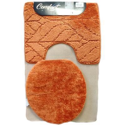 Koupelnová předložka  Vanesa oranžová set 3ks - 1