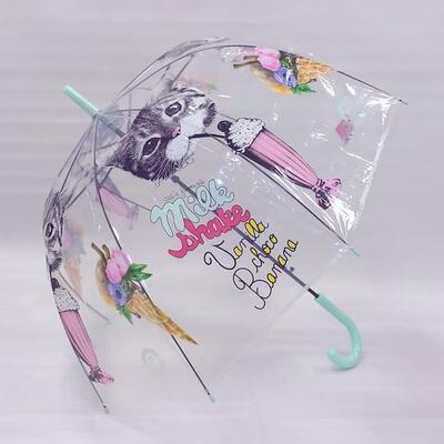 Průhledný holový deštník Mourek tyrkysový - 2