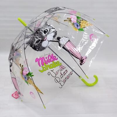 Průhledný holový deštník Mourek zelený - 2